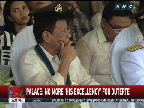 Palace: No more 'His Excellency' for Duterte