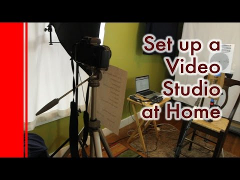 How to Set Up a Video Studio at Home