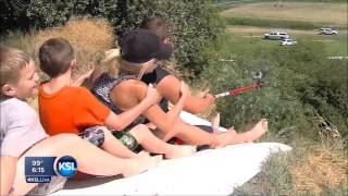 Farmers Create Huge Redneck Slip 'N Slide