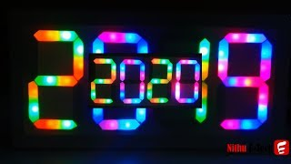 LED Project How to Make Happy New Year 2019 and 2020