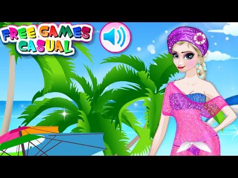 8fbf332b80 Frozen Elsa Swimwear Design - Frozen Princess Games For Kids - YouTube