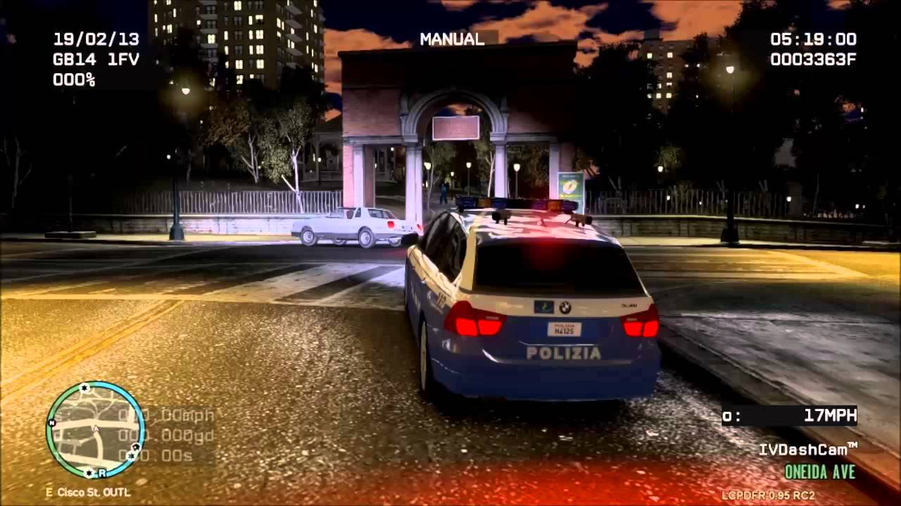 Gta iv italian bmw 330 i quot polizia quot police car youtube