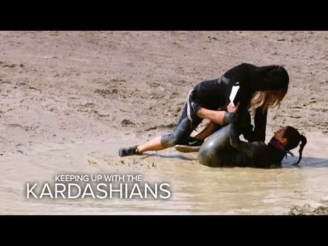 KUWTK | Khloé Tackles Kim on a Mud Run | E!