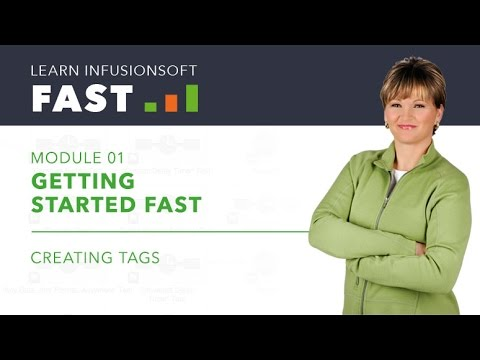 Learn Infusionsoft Fast - Adding Tags and Tag Categories