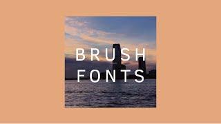 15 Brush Fonts