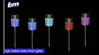 Dallas Solar Light Posts - Colour Changing | B&M Stores