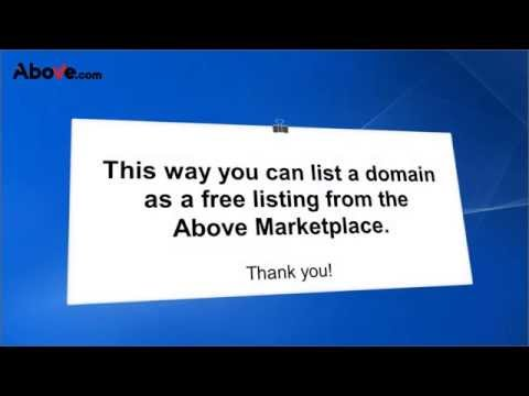 How to list a domain as a free listing from the above marketplace?