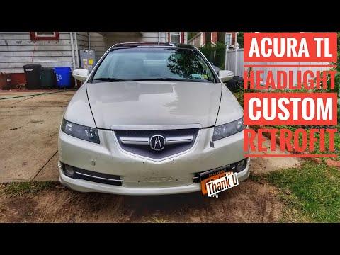 Acura tl 05 retrofit 07 08 tl custom headlight retrofit