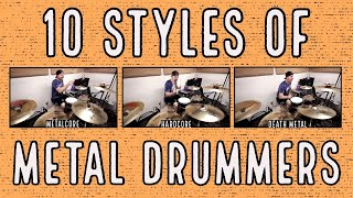 10 styles of metal drummers thumbnail