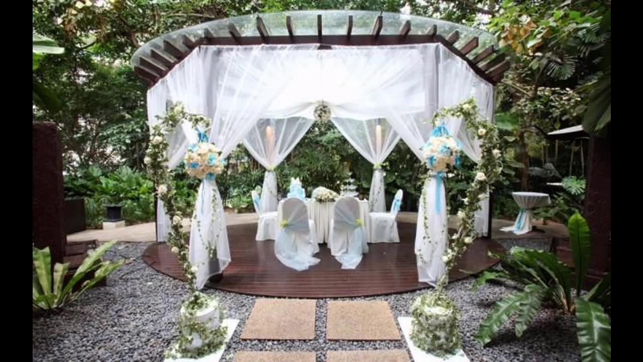 Ideas al aire libre de las decoraciones de la boda youtube Ideas para decorar un arco de boda