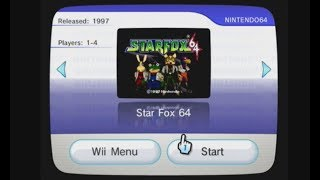 Virtual Console Starfox 64 WAD Manager 1.7 via USB install
