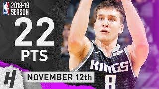 Bogdan Bogdanovic Full Highlights Kings vs Spurs 2018.11.12 - 22 Points!