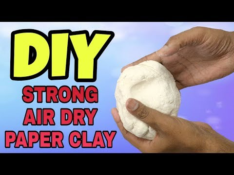 How To Make Strong Air Dry Paper Clay - No Cracking   New Technique of Paper Clay Making