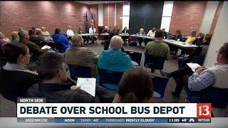 Debate over school bus depot