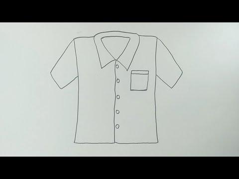 Cara Menggambar Baju Cara Menggambar Dan Mewarnai Baju Yang Mudah Youtube