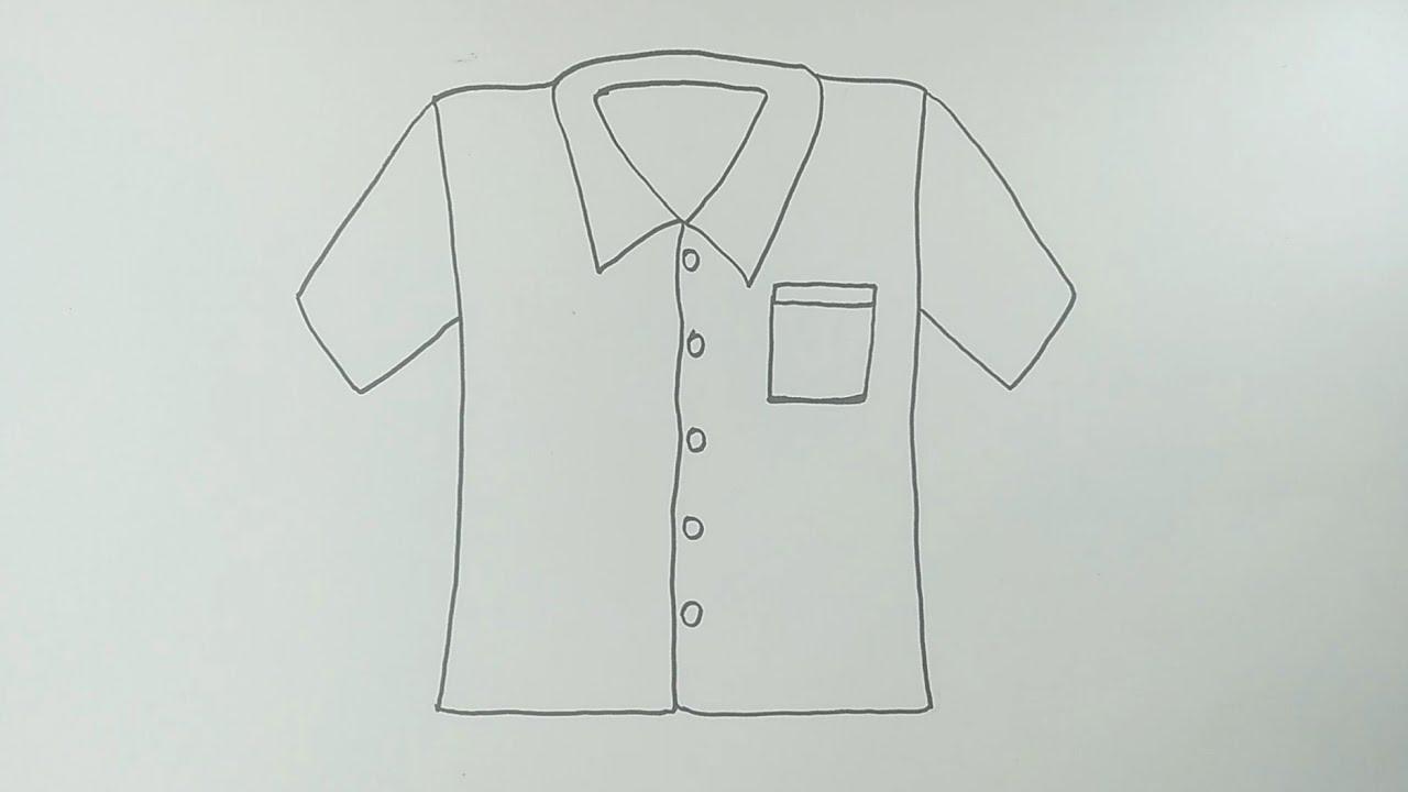 Cara Menggambar Baju Cara Menggambar Dan Mewarnai Baju Yang Mudah