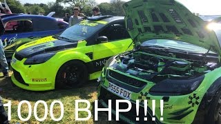 1000 BHP FOCUS RS | Massive Turbos And Screamer Pipes | Ford TakeOver Meet
