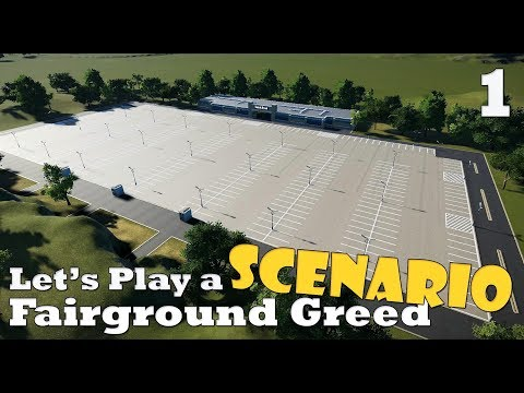 Planet Coaster: Let's Play a scenario - Fairground Greed - Ep. 1 - Parking lot HYPE!