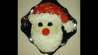 Салат на Новый год. Новогоднее оформление салата.