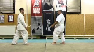 sabaki kata lépések ütés ellen