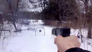 suppressed glock 30 45 acp with silencerco osprey 45 suppressor vs steel plate