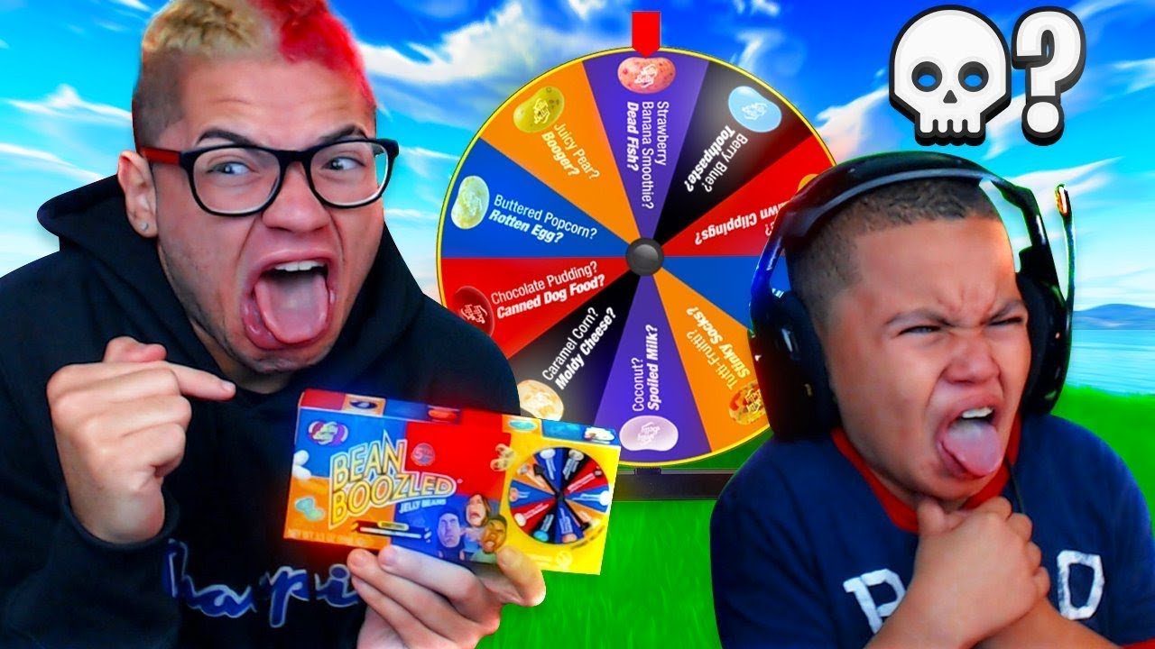 1-kill-bean-boozled-for-10-year-old-brother-and-mindofrez-threw-up-fortnite-battle-royale