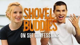 Kian Lawley & Bella Thorne On Set Confessions! | Shovel Buddies