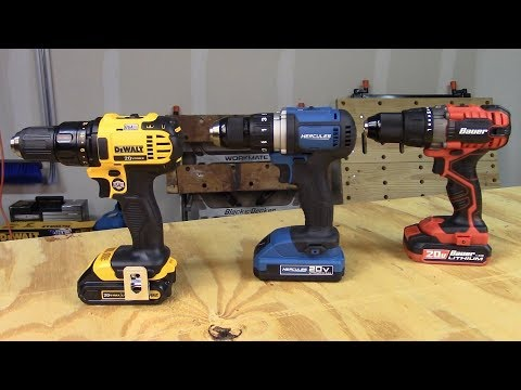 Harbor Freight Drills vs DeWalt Video