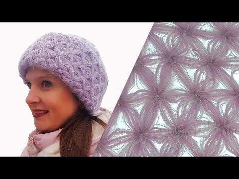 Мамочкин канал шапки женские вязаные спицами крючком видео уроки