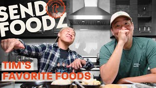 """This week is a special episode of """"Send Foodz"""" from home: It's Tim's picks! Even though they can't travel to different spots, we're bringing the eats and drinks to ..."""