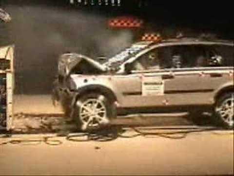 Crash Test of 2007 Volvo XC90 wsab  YouTube