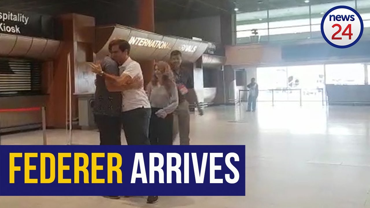 Watch Roger Federer Arrives In Cape Town Ahead Of Clash With