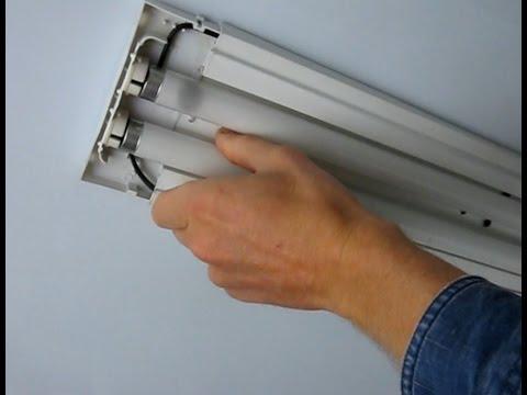 Как самому поменять лампу дневного света