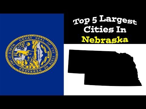 Top 5 Biggest Cities In Nebraska | Population & Metro | 1900-2020
