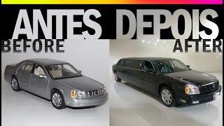 Repintura/Transformação - Miniatura Limousine Cadillac Deville 2000 (Maisto 1/18)