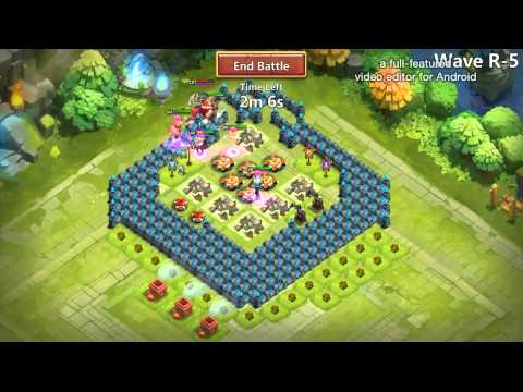 Castle Clash : Farming HBM ( R ) With My Second Account