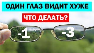 нЕРАВНОМЕРНОЕ ЗРЕНИЕ \ Как восстановить зрение, если один глаз видит хуже?