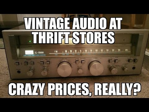 Thrift store prices on vintage audio and the cry babies..