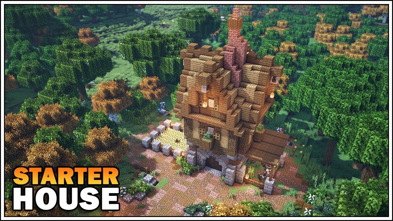 Minecraft Medieval Starter House Tutorial