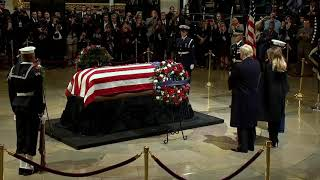 PAYING THEIR RESPECTS: President Trump, First Lady Visit Capitol Rotunda to Honor Bush 41 (FNN)
