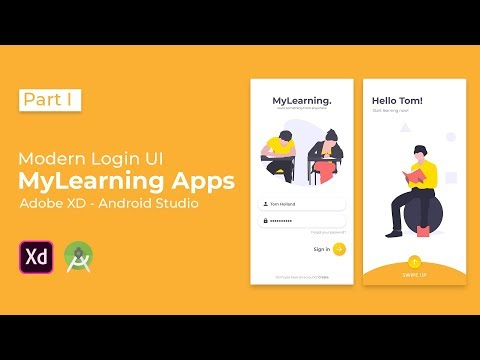 Modern MyLearning Login UI Design - Adobe XD to Android Studio Tutorial (Part I - Design Section) thumbnail