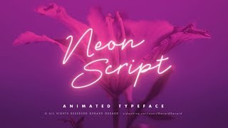 Neon Script - Animated typeface | After Effects template