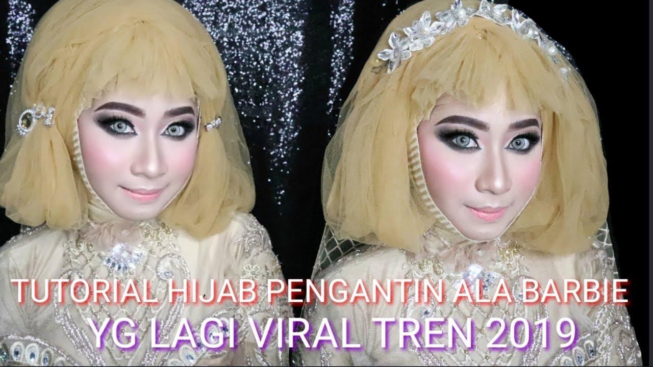 Tutorial Hijab Pengantin Ala Barbie Yg Lagi Viral Simple Tren 2019 Youtube