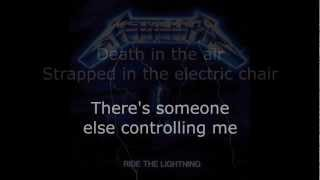 Metallica - Ride The Lightning Lyrics (HD)