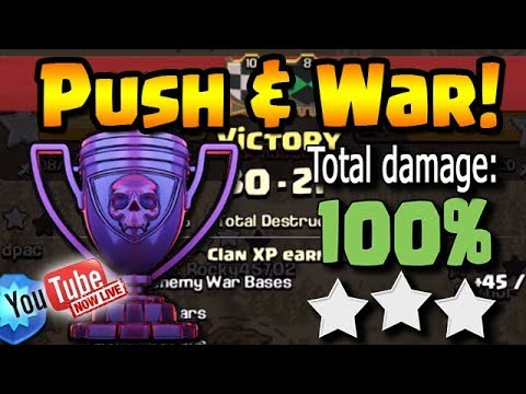 Pushing and End of War! | @ClashBashing on Twitter | Clash of Clans | !Gawk |