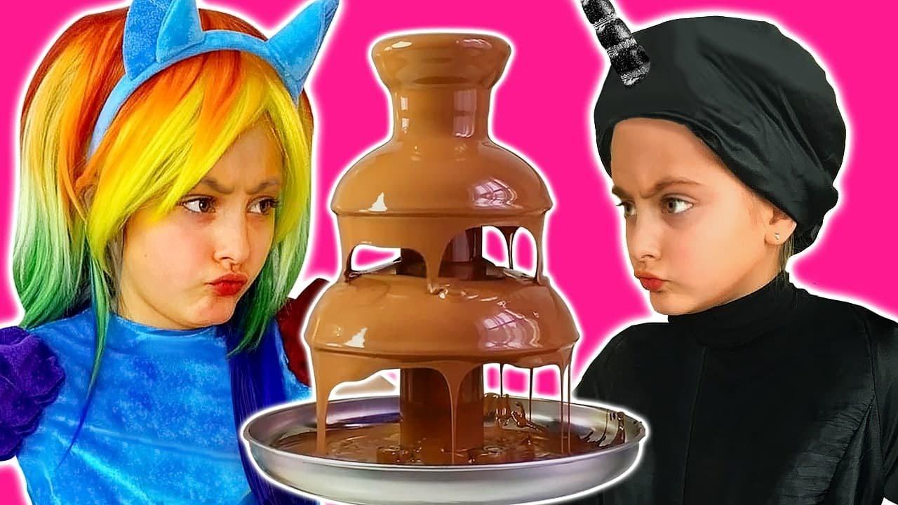 Sasha và Dima kể cho trẻ em về đồ ngọt có hại trong loạt thử thách sô cô la mới
