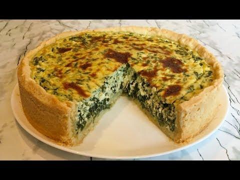Пирог со Шпинатом (Очень Вкусный и Полезный) / Pie With Spinach / Быстрый Рецепт