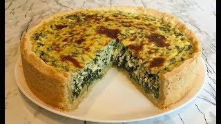Пирог со Шпинатом(Очень Вкусный и Полезный)/Pie With Spinach/Быстрый Рецепт