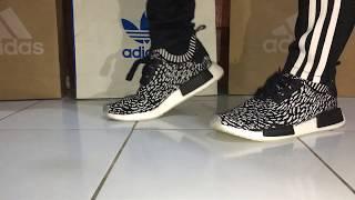 ON FEET ADIDAS NMD R1 PK 'SASHIKO' / Zebra