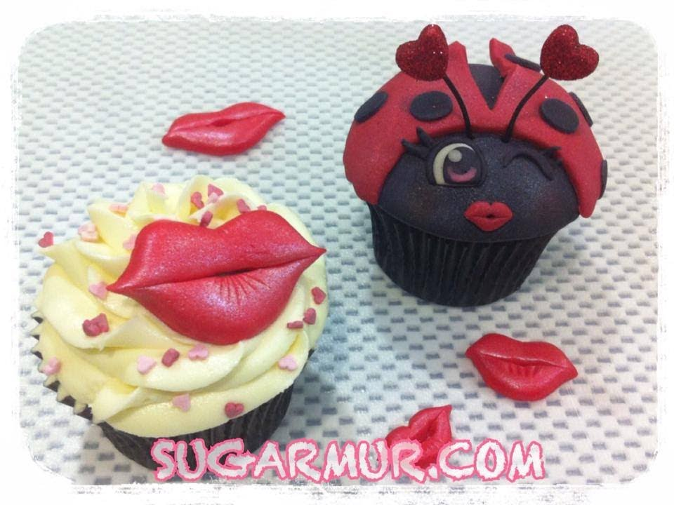 Tutorial morritos de fondant y decoraci n cupcake de san - Decoraciones para san valentin ...